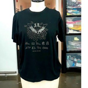 3/$40 Black Short Sleeve Monopoly Printed t-shirt